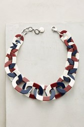 Anthropologie Independence Choker Necklace Navy