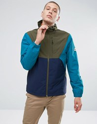 Penfield Cochato Hooded Jacket Techical Waterproof Tricolor In Green Olive