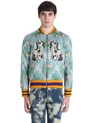 Gucci Embroidered Jacquard Bomber Jacket