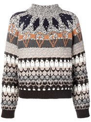 Stella Mccartney Festive Knit Jumper Grey