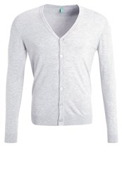 United Colors Of Benetton Cardigan Grey Mottled Light Grey