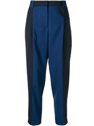 Paul Smith Straight Leg Cropped Trousers Blue