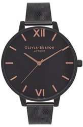 Olivia Burton Women's 'Big Dial' Mesh Strap Watch 38Mm Black Black