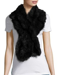 Surell Long Haired Rabbit Fur Scarf Hunter Green