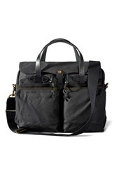 Filson '24 Hour' Tin Cloth Briefcase Black