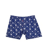 Tommy Bahama Printed Knit Boxer Brief Flower Shell Rope Bering Blue Men's Underwear