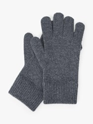 John Lewis And Partners Cashmere Gloves Grey