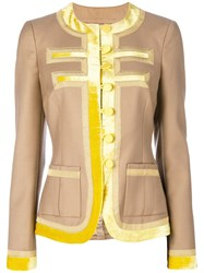 Givenchy Contrasting Trim Jacket Neutrals
