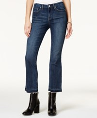 Jessica Simpson Cherish Cropped Wright Blue Wash Flare Leg Jeans