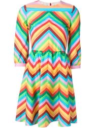 Valentino Zig Zag Print Dress