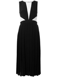Paul Smith Ps By Pleated Colour Block Dress Black