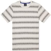 Paul Smith White Noise Stripe Tee Neutrals