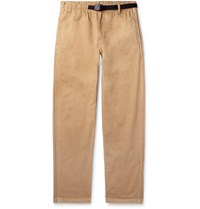Gramicci Belted Cotton Twill Trousers Neutrals