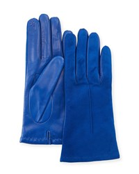 Portolano Tech Suede And Napa Leather Short Gloves Black
