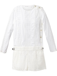 Sacai Luck Cut Out Panel Top White