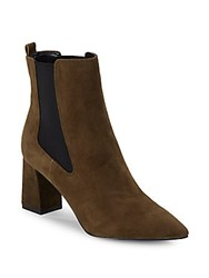 Marc Fisher Zanna Suede Chelsea Booties Green