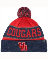 Top Of The World Houston Cougars Below Zero Knit Hat Red Heather Navy