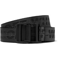Off White 3.5Cm Black Industrial Canvas Belt Black