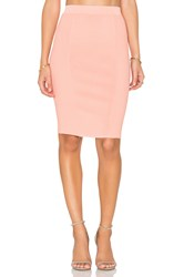 Endless Rose Knit Midi Skirt Coral
