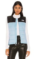 The North Face Pardee Insulated Vest In Blue. Angel Falls Blue And Tnf Black