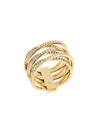Pave Crisscross Band Ring Michael Kors