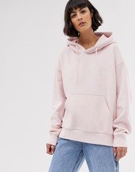 Weekday Oversized Hoodie In Light Pink