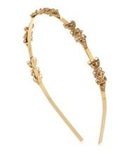 Oscar De La Renta Ornate Charm Headband Gold