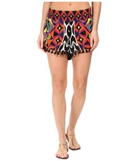 Trina Turk Africana Shorts Cover Up Multi Women's Swimwear