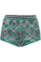 Missoni Woman Crochet Knit Shorts Green