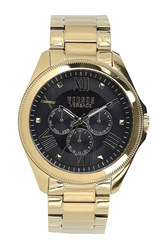 Versus By Versace 'S Elmont Multi Function Analog Quartz Bracelet Watch 44Mm Yellow Gold