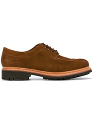 Grenson Lace Up Derby Shoes Brown