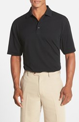 Men's Cutter And Buck 'Championship' Classic Fit Drytec Golf Polo Black