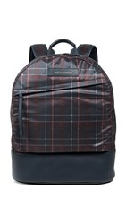 Want Les Essentiels Plaid Backpack Navy Tartan