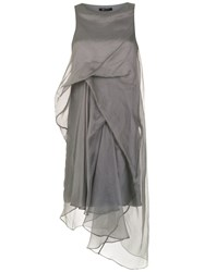 Uma Raquel Davidowicz Loren Midi Dress Grey