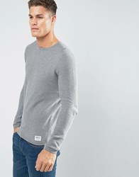 Tom Tailor Jumper With Crew Neck In 100 Cotton Grey