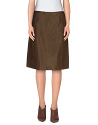 Aspesi Knee Length Skirts Khaki