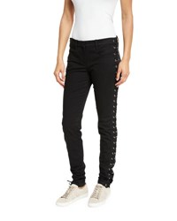 A.L.C. Dent Laced Skinny Jeans Black