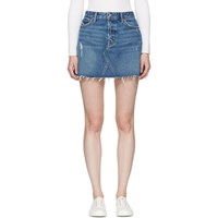 Grlfrnd Blue Denim Eva Skirt