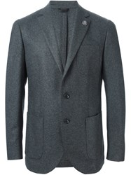 Hydrogen Notched Lapel Blazer Grey
