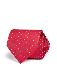 Bloomingdale's The Men's Store At Mini Flower Neat Classic Tie Red Blue
