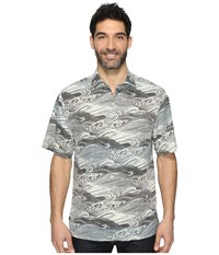 Tommy Bahama Bayside Tide Short Sleeve Woven Shirt Balsam Green Men's Short Sleeve Button Up Gray