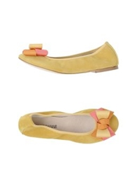Pierre Darre' Ballet Flats Light Green