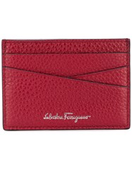 Salvatore Ferragamo Cross Cardholder Men Calf Leather One Size Red