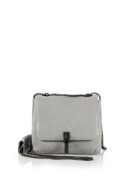 Elizabeth And James Cynnie Mini Bubble Leather Double Shoulder Bag Shell Black