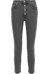 Iro Woman Gaety Faded High Rise Skinny Jeans Anthracite