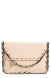Stella Mccartney 'Mini Falabella Shaggy Deer' Faux Leather Crossbody Bag Beige Powder Silver