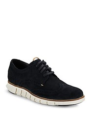 Cole Haan Leather Wingtip Sneakers Black
