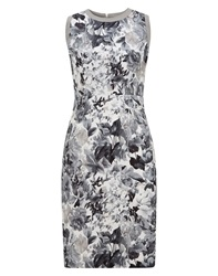 Nougat London Jessie Print Fitted Dress Grey