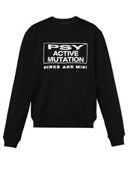 P.A.M. Brain Activity Cotton Sweatshirt Black