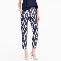 J.Crew Collection Cigarette Pant In Heavy Shantung Ikat